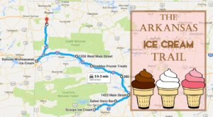 This Mouthwatering Ice Cream Trail In Arkansas Is The Sweetest Adventure In The State