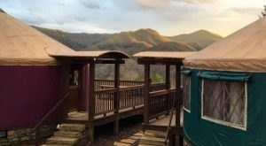 Sky Ridge Yurts Is A Secluded Glampground In North Carolina With Views Of The Nantahala Gorge
