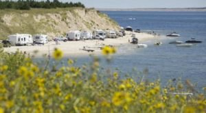 The Spectacular Spot In Nebraska Where You Can Camp Right On The Beach