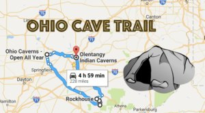 This Map Shows The Shortest Route To 7 Of Ohio's Most Incredible Caves