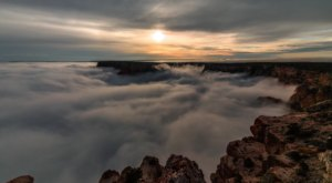 This Stunning Timelapse Video Shows Arizona's Grand Canyon Filled With A Sea Of Clouds