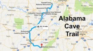 This Map Shows The Shortest Route To 6 Of Alabama's Most Incredible Caves