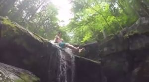 A Ride Down This Epic Natural Waterslide In Connecticut Will Make Your Summer Complete