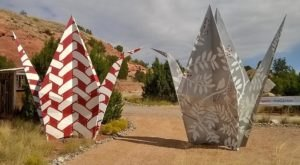 A Fascinating Origami Park In New Mexico, Turquoise Trail Sculpture Garden Is Stunningly Unique