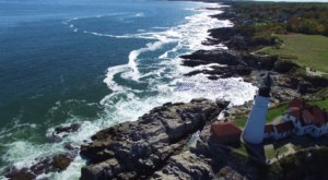 Someone Flew A Drone High Above Maine And Captured The Most Breathtaking Footage
