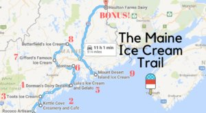 This Mouthwatering Ice Cream Trail In Maine Is The Sweetest Adventure In The State