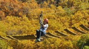 Take A Canopy Tour At Glenwood Canyon In Colorado To See The Fall Colors Like Never Before