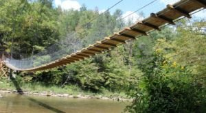 Most People Don't Know About This Amazing Swinging Bridge Hidden In Kentucky