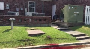 This Video Of Blood Seeping Out Of A Funeral Home Near New Orleans Is Horror Movie Material