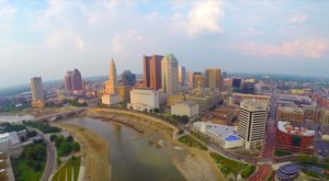 Someone Flew A Drone High Above Columbus And Captured The Most Breathtaking Footage