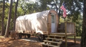 Spend The Night In This Covered Wagon In Oklahoma For An Experience Unlike Any Other