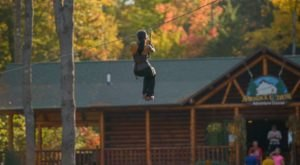 Take A Canopy Tour At Adirondack Extreme Adventure Course In New York To See The Fall Colors Like Never Before