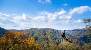 Take A Canopy Tour At The Gorge Zipline In North Carolina To See The Fall Colors Like Never Before