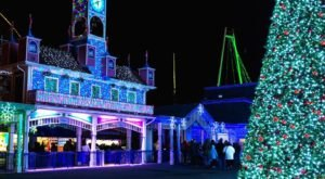Take An Enchanting Winter Walk Through Holiday Lights At Lake Compounce In Connecticut
