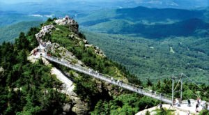 The Stomach-Dropping Suspended Bridge Walk You Can Only Find In North Carolina