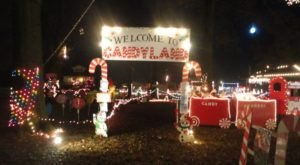 Take An Enchanting Winter Walk Through The Coulterville Holiday Light Display In Illinois
