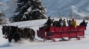 Take This One Of A Kind Sleigh Ride Through Utah's Winter Wonderland