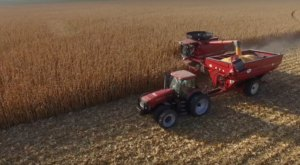 You'll Love This Bird's Eye View of a Nebraska Farm at Harvest Time