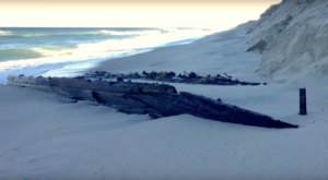 A Shipwreck Has Just Emerged From The Sands Of This Massachusetts Beach