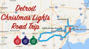 The Christmas Lights Road Trip Around Detroit That's Nothing Short Of Magical