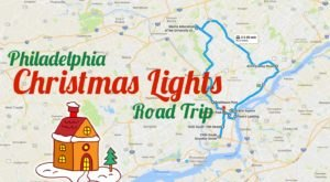 The Christmas Lights Road Trip Around Philadelphia That's Nothing Short Of Magical