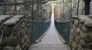 Tennessee is Home to The Longest Swinging Bridge In the Nation