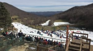 The Epic Snow Tubing Hill In North Carolina, Hawksnest, Is Filled With Winter Thrills
