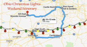 Here's The Perfect Weekend Itinerary If You Love Seeing Ohio's Magical Christmas Lights