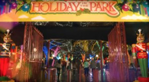 The Massachusetts Amusement Park That Transforms Into A Winter Wonderland Every Year