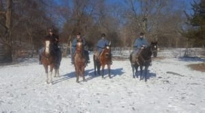 The Winter Horseback Riding Trail In Rhode Island That's Pure Magic