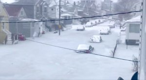 A Frozen Sea Has Washed Over Massachusetts' Streets And The Video Is Surreal