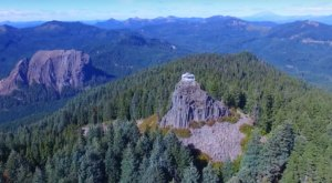 The Drone Footage Captured From This Oregon Fire Lookout Is Downright Astounding