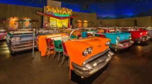 A Fun And Retro Restaurant In Florida, The Sci-Fi Dine In Theater Is Fun For The Whole Family