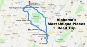 Take This Unforgettable Road Trip To Experience Some Of Alabama's Most Unique Places