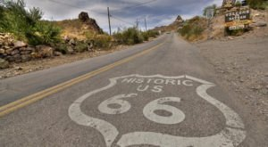 This Remote Portion Of Route 66 In Arizona Will Take You to A Living Ghost Town