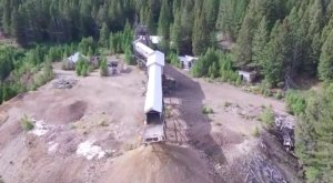 Drone Footage Captured At This Abandoned Montana Silver Mine Is Truly Grim