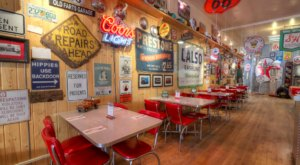 You'll Want To Fuel Up At This Gas Station-Themed Restaurant In Montana