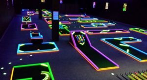 Alabama's Indoor Glow In The Dark Mini-Golf Course Creates An Unforgettable Time For The Entire Family