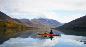 Take A Kayak On This Turquoise Lake In Alaska For An Amazing Adventure