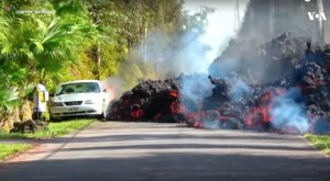 Molten Lava Just Swallowed A Car In Hawaii And The Footage Is Crazy