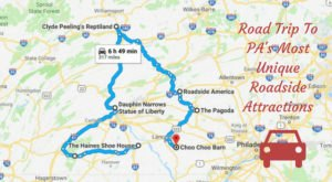 Take This Quirky Road Trip To Visit Pennsylvania's Most Unique Roadside Attractions
