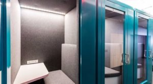 These Private Airport Work Booths Are What You've Been Longing For