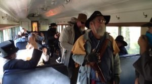 The Dinner Train Near Cincinnati That'll Take You Back To The Wild Wild West