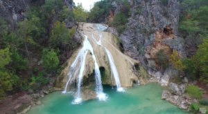 This Mesmerizing Drone Footage Takes You High Above These Oklahoma Waterfalls Like Never Before