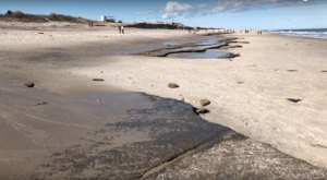 This Gorgeous Massachusetts Beach Reveals A Slice Of History When The Tide Goes Out