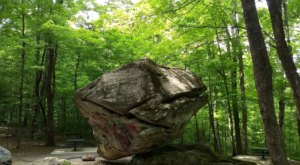 This Gigantic Floating Rock In Massachusetts Is Too Weird For Words
