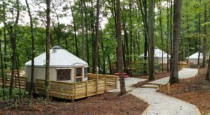 Sweetwater Creek State Park In Georgia Has A Yurt Village, And It's As Great As It Sounds