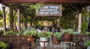 The Outdoor Beer Garden In Pennsylvania That's Located In The Most Unforgettable Setting