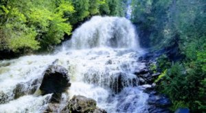 Discover One Of New Hampshire's Most Majestic Waterfalls — No Hiking Necessary