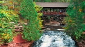The Waterfall State Park That Has One Of The Most Charming Covered Bridges In The U.S.